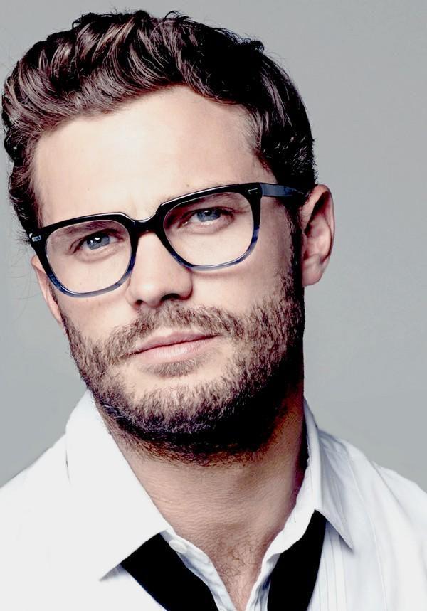 He looks good in glasses https://www.pinterest.com/lilyslibrary/ .. Jamie Dornan…
