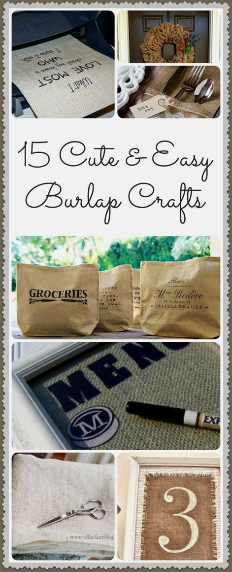15 Diy Burlap Crafts Ideas Crafts Pinterest Burlap Crafts