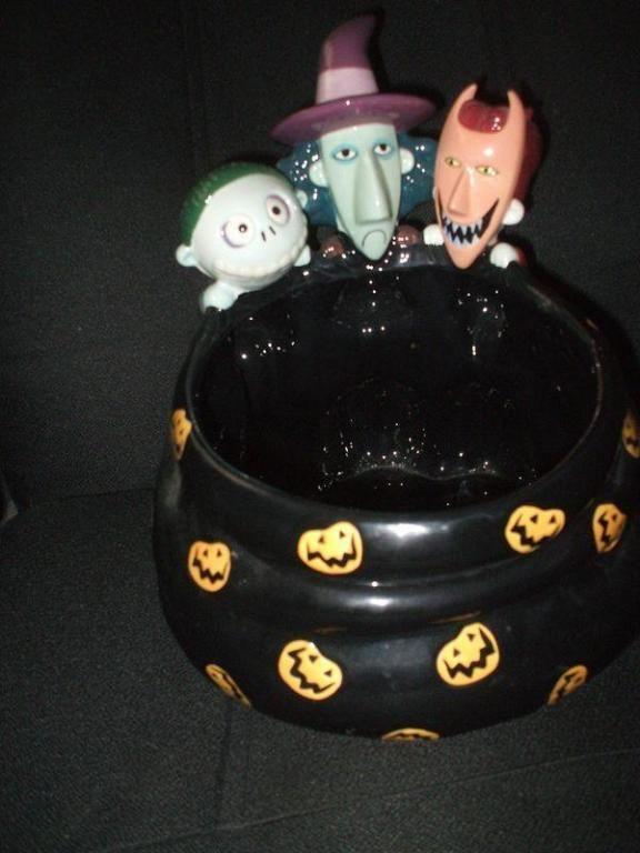 disney nightmare before christmas lock shock barrel candy dish halloween the nbc collectionary - Halloween Nightmare
