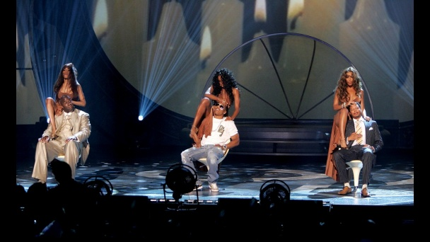 "Destiny's Child performs ""Cater To You"" while Magic Johnson, Nelly & Terrence Howard oblige - 2005: Photos, Bet Awards, Awards Moments, 2005, Highlights"