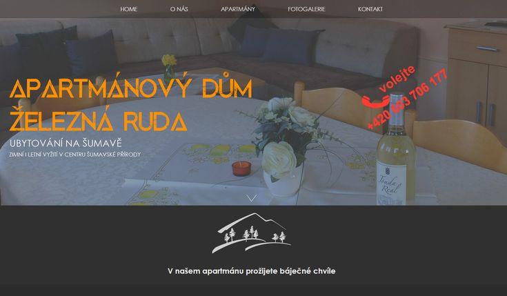 WFB Media Plzeň, zhotovení webových stránek a prezentací nejen            v Plzni a okolí - reference: vytvořili jsme tyto webové stránky pro firmu Ubytování Železná Ruda, apartmánový dům Miklovič