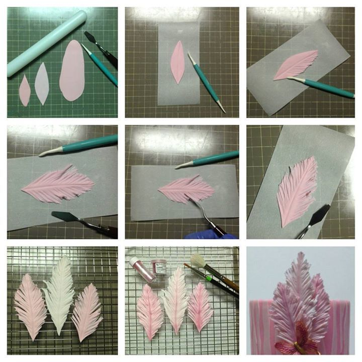 How to make fondant/gum paste feathers