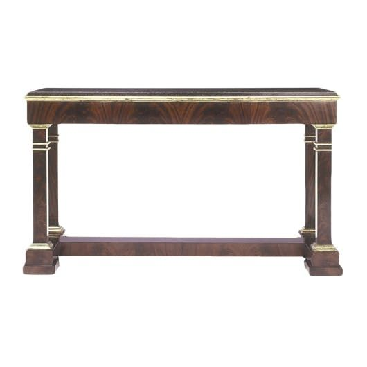 Library Console Table  Traditional, Traditional, Stone, Wood, Console Table by Ferrell Mittman