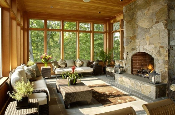 14 best images about sunrooms on pinterest fireplace for Sunrooms with fireplaces