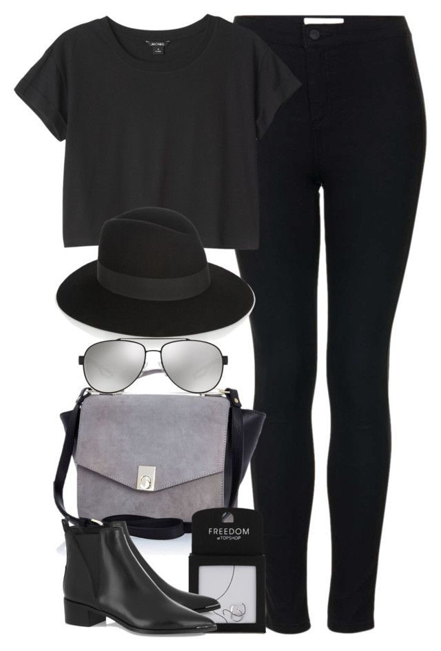 """""""Untitled #3875"""" by amyn99 ❤ liked on Polyvore featuring Topshop, River Island, Monki, Yves Saint Laurent, Prada and Acne Studios"""