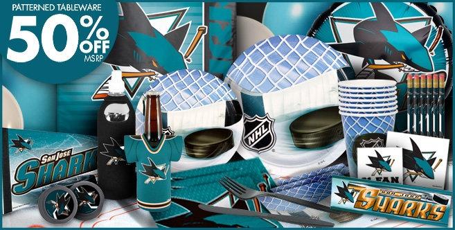 San Jose Sharks Party Supplies, Favors