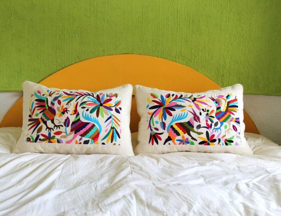 Oversized pair of piped Otomi Shams made out of a by CasaOtomi, $297.00