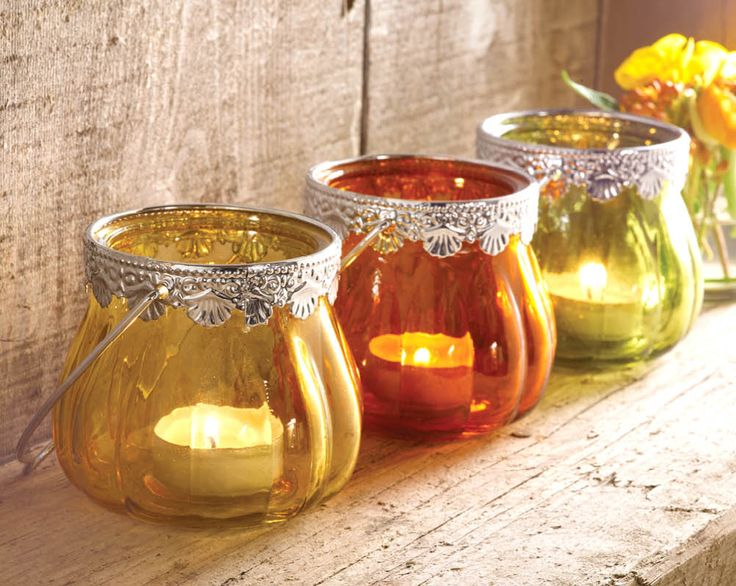 Jewel Colour Candle Holder £5  Beautifully designed glass tea light holders give each colour a warm glow (tea light not included). Holder measures H8cm, 17cm including the handle.  Code: 794422  Kleeneze KLife