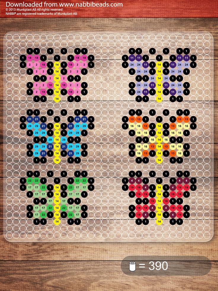 Small butterflies -- perler beads