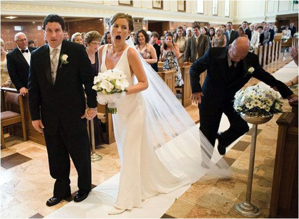 This stumbly dad. | 24 Wedding Fails That Will Make You Never Want To Get Married