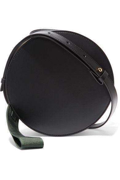 Marni | Tambourine two-tone leather shoulder bag | NET-A-PORTER.COM