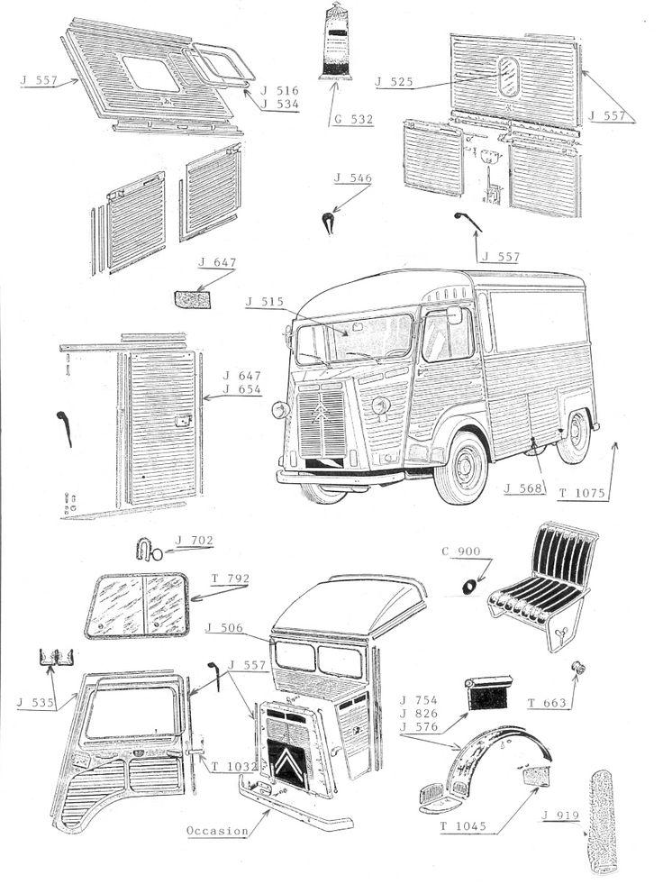 Citroën Type HY blueprints and patent.