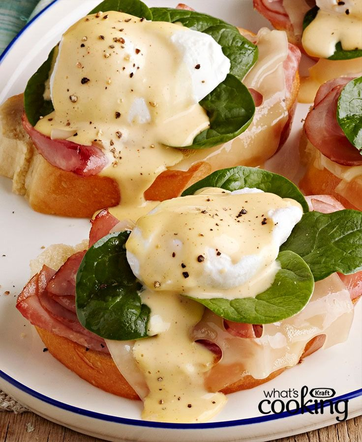 Hosting brunch? This restaurant-style recipe is sure to impress guests and takes 20 min or less. Tap or click photo for this Brunch-Style Eggs Benedict #recipe.