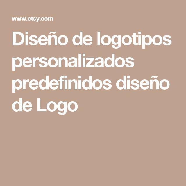 Diseño de logotipos personalizados predefinidos diseño de Logo