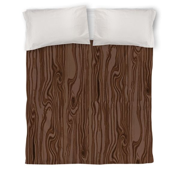 Thumbprintz Wood Grain Large Scale Brown Duvet Cover | Overstock.com Shopping - The Best Deals on Duvet Covers