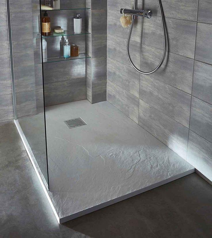 Un receveur de douche à poser effet béton : Notre sélection de douches à…