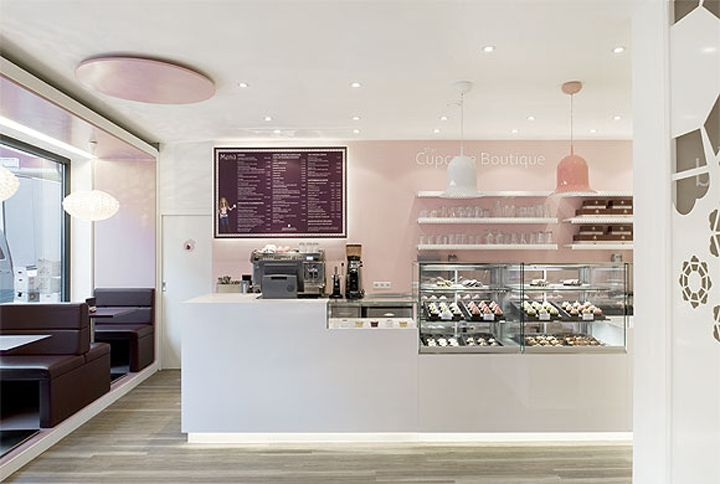 Cupcake - don't particularly like the white, but like the clean lines of the counter & displays behind
