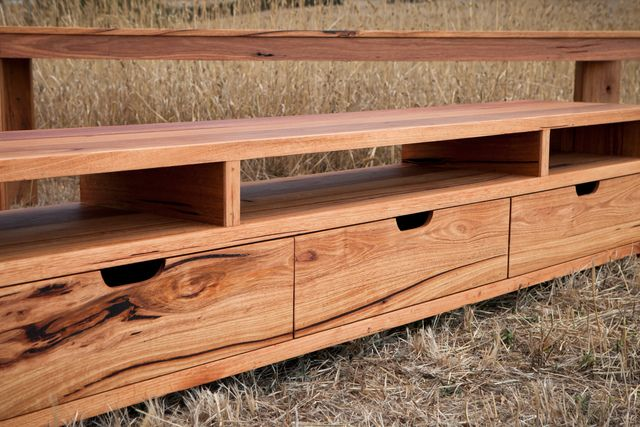 Bells Beach Messmate TV Unit by Bombora Custom Furniture - TV Cabinet, Entertainment Unit, Recycled Timber, Messmate, Solid Timber, Matching Furniture, Toquay, Surf Coast, Sydney TV Unit