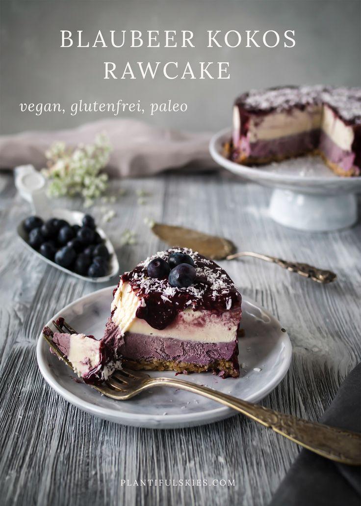Dieser Kokos Blaubeer Rawcake ist die perfekte gesunde Leckerei. vegan, glutenfrei und Paleo! Lecker, gesund, genial!