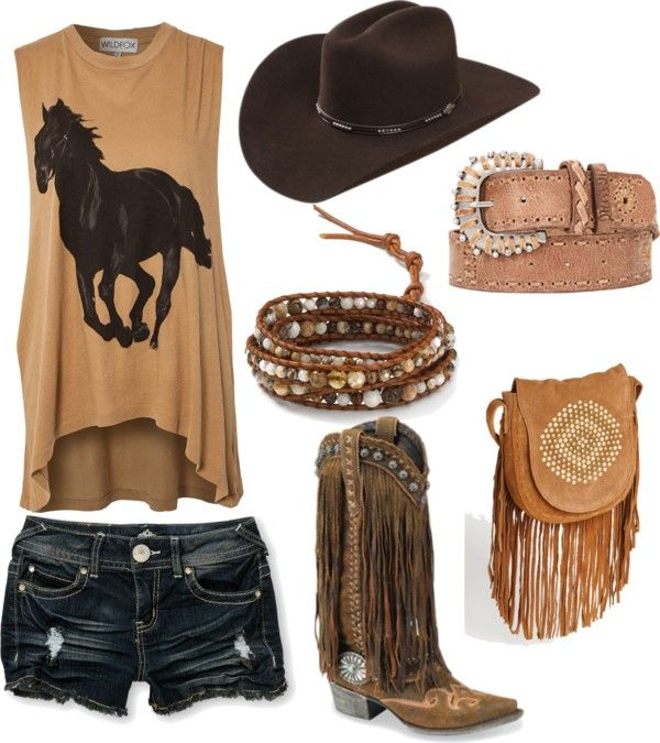 I like my cowboy boots without fringe thank ya very much but everything else is super cute!