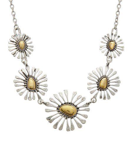 MexZotic Goldtone Sundial Statement Necklace | zulily