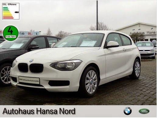 Gebrauchtwagen BMW 114i: 14.190 EUR Limousine 28.182 km 03 / 2013 Benzin Schaltgetriebe Gebrauchtwagen