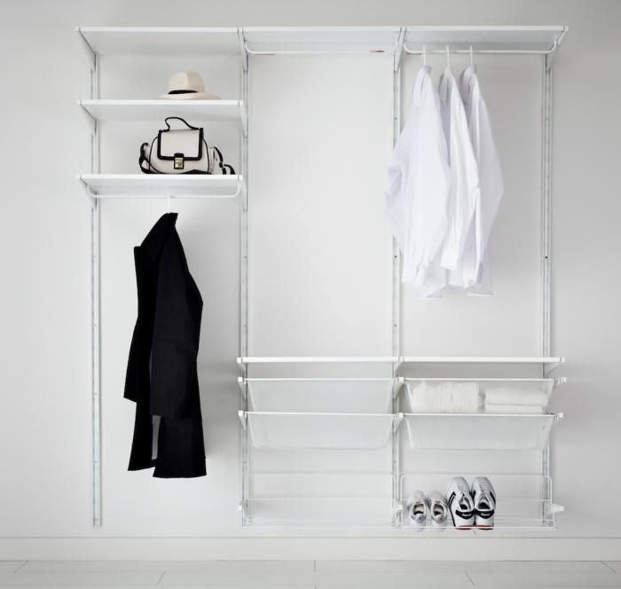 Clothes storage system helpful hints home pinterest closet storage clothes storage for Bedroom closet organizers ikea