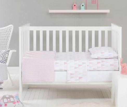 Jensen Pink Cot Sheet Set #nursery coming soon http://designerschoice.com.au