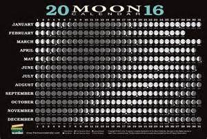 2016 lunar phases calendar - Bing images