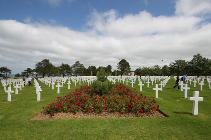 Remembering D-Day 70 years ago. The cemetery at Omaha Beach in France with thousands of graves see the article at RenovationBootcamp.com