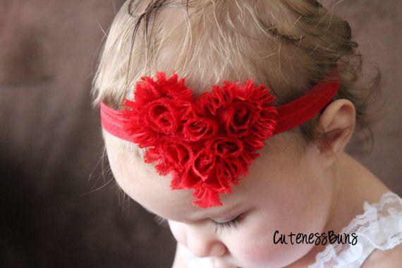 So cute for Valentines! 15 Off..Baby Headbands Baby Girl Headband Baby by cutenessbuns, $6.95