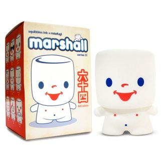 Marshall Series 1 : Blind Box - Marshall Mashumaro was a little boy who ate so many marshmallows he turned into one! How scary is that? But�he�s just about the cutest little marshmallow boy ever! Marshall Series 1 features 19 total designs (16 regular and 3 secret) packaged in blind boxes.<p>This item is blind box assortment. Each blind box consists of one random figure from the series.