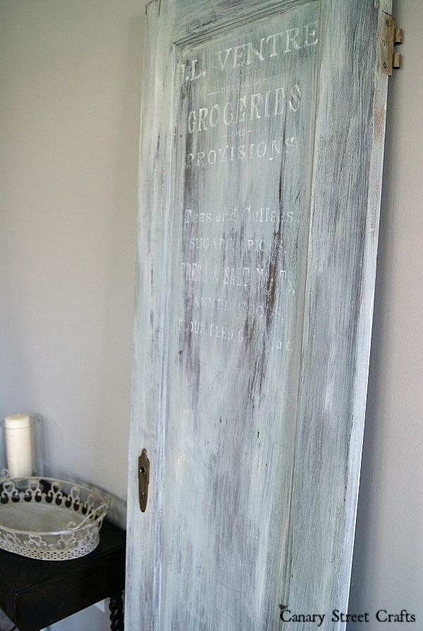 Create a weathered, vintage look by layering several coats of watered down chalk paint.  {Canary Street Crafts}