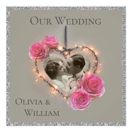 Romantic vintage wedding invitation  $2.21  by Mintinprint  - cyo customize personalize diy idea