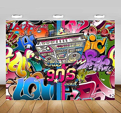 Tracy Lee 收藏于 Hip Pop Graffiti Backdrop Party Themesbackdrops
