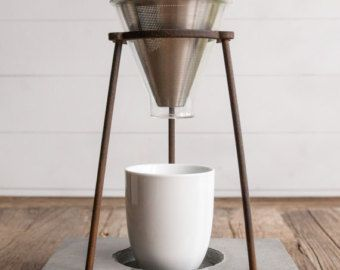 Copper Hario V60 Glass 02 Pour Over Stand & Dripper