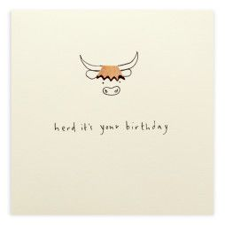 Pencil Shavings Card – Birthday Highland Cow