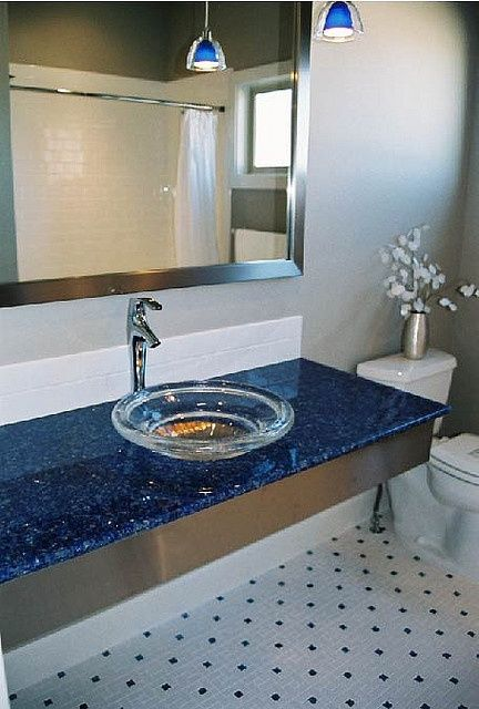 lapis blue countertop...wow.
