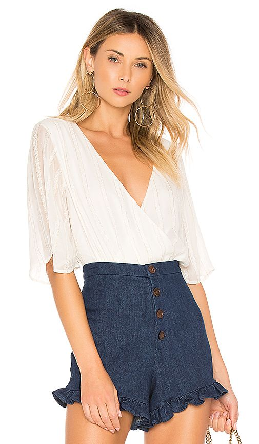c37f61c08c4 Shop for L Academie Zoe Bodysuit in Ivory Gold Stripe at REVOLVE. Free 2-3  day shipping and returns
