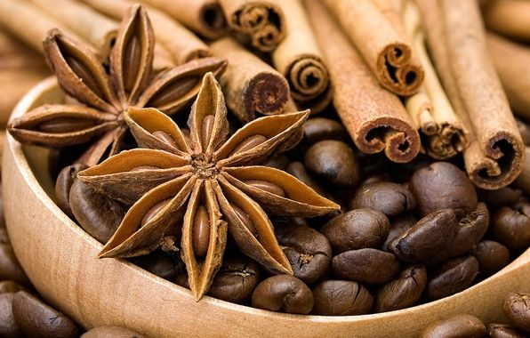 Wallpaper anise, star anise, cinnamon, spices, coffee, grain wallpapers miscellanea - download