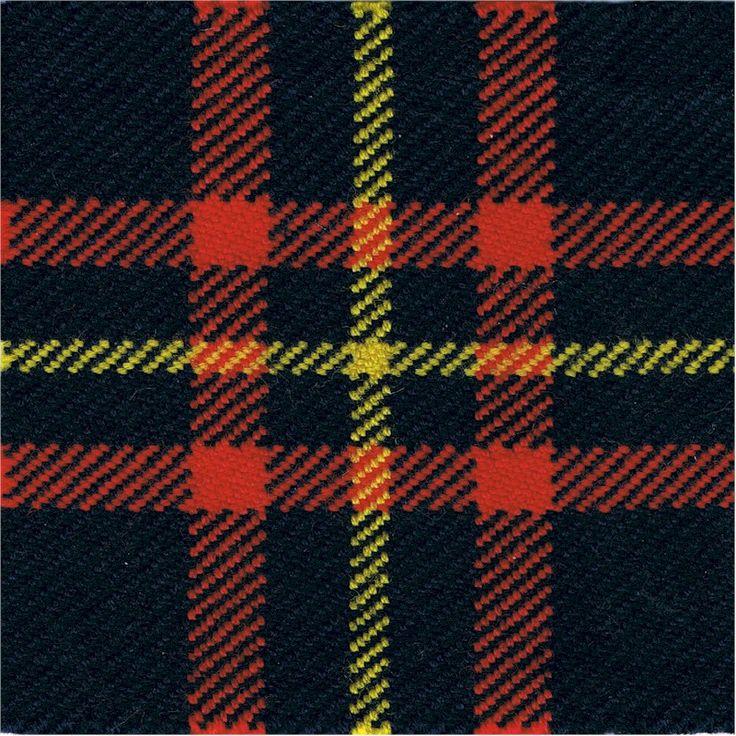 Cameron Highlanders tartan cloth badge backing