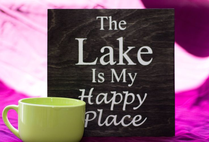 The Lake Is My Happy Place Wood Sign by DazzlingCreationsCA on Etsy