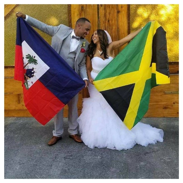 Love conquers all 🇭🇹+🇯🇲=😍 ---------------------------------------------- (Photo Repost📷: 🇭🇹 and 🇯🇲 love connection! Congrats lovebirds! #Munaluchi #munaluchibride / #Repost @allthewaylive_tas ・・・ God has created the most AMAZING man for me!! I am beyond excited for the journey ahead of us!! I LOVE U!! It's official 👰🏽💍🤵🏽❤️🙌🏽 #ROYalBashment 🇯🇲🇭🇹) #🇭🇹 #🇯🇲 #wedding #sakpase #whatagwaan #haiti #jamaica #love #weddingseason #gown #ido #photo #yes #beautiful…