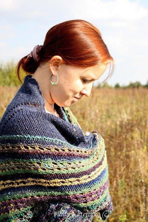 """Купить Шаль """"Deep-deep sea"""" - абстрактный, шаль, шарф, шейный платок, косынка…"""