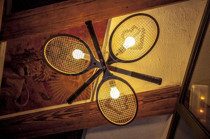 Tennis Racket Light Fixture