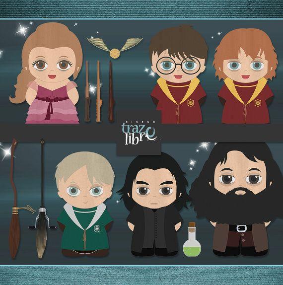 Digitale illustraties: Harry Potter Clipart  INSTANT Download
