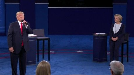 60 seconds of pure vitriol from Sunday's town hall debate - CNN Video