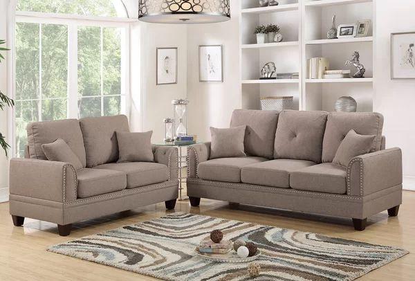 Findlay 2 Piece Living Room Set Sofa Ruang Tamu Warna Ruang Tamu Ide Ruang Keluarga