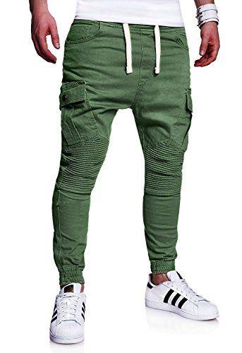 MT Styles stile Biker Sportivi-Jeans Pantaloni Uomo RJ-2276 [cachi, W30]