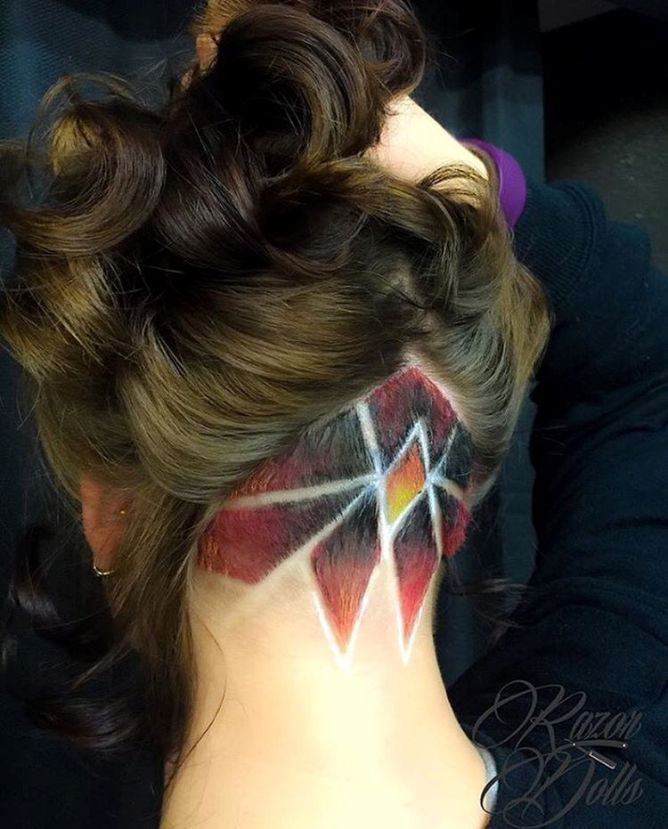 stunning undercut hair design